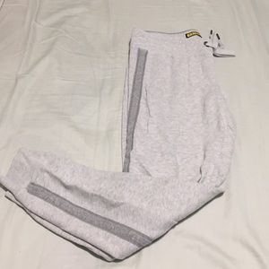 White and Gray Women's Sweatpants